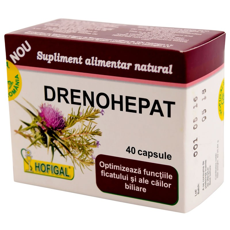 Drenohepat, 40 capsule, Hofigal