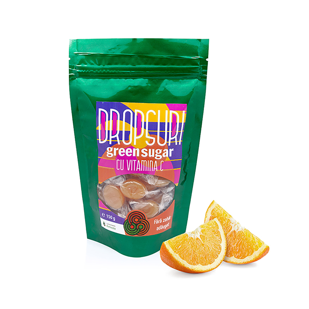 Dropsuri cu Green Sugar și Vitamina C, 150g, Remedia