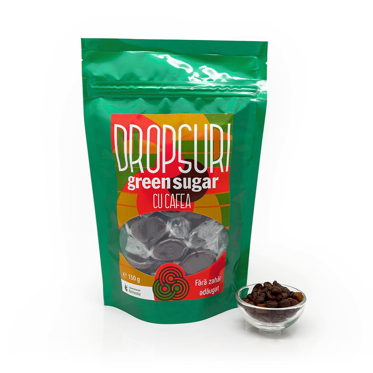 Dropsuri cu cafea Green Sugar, 150 g, Remedia