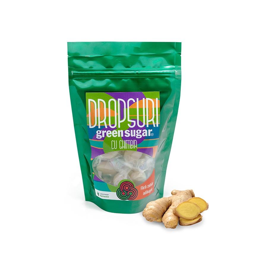 Dropsuri Green Sugar (ghimbir), 150g, Remedia