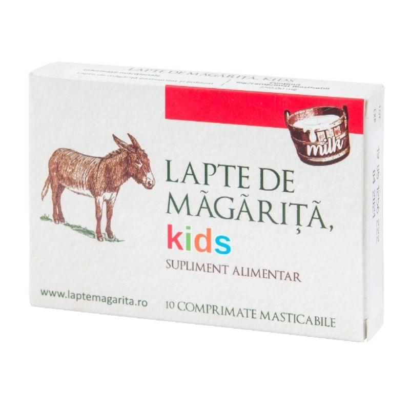 Lapte de măgărița Kids, 10 comprimate masticabile, Nutraceutical