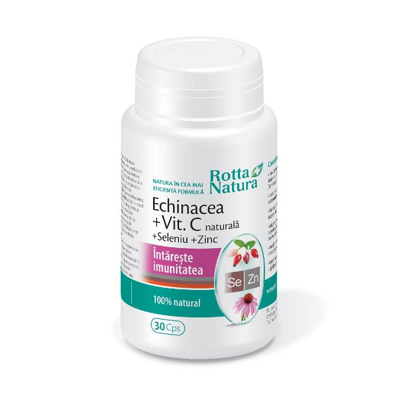 Echinacea + vitamina C + seleniu + zinc, 30 capsule, Rotta Natura