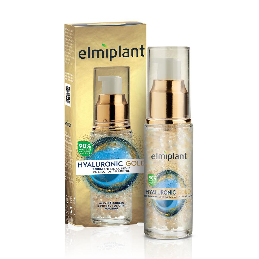 Serum pentru fata cu efect de umplere Hyaluronic Gold, 30 ml, Elmiplant