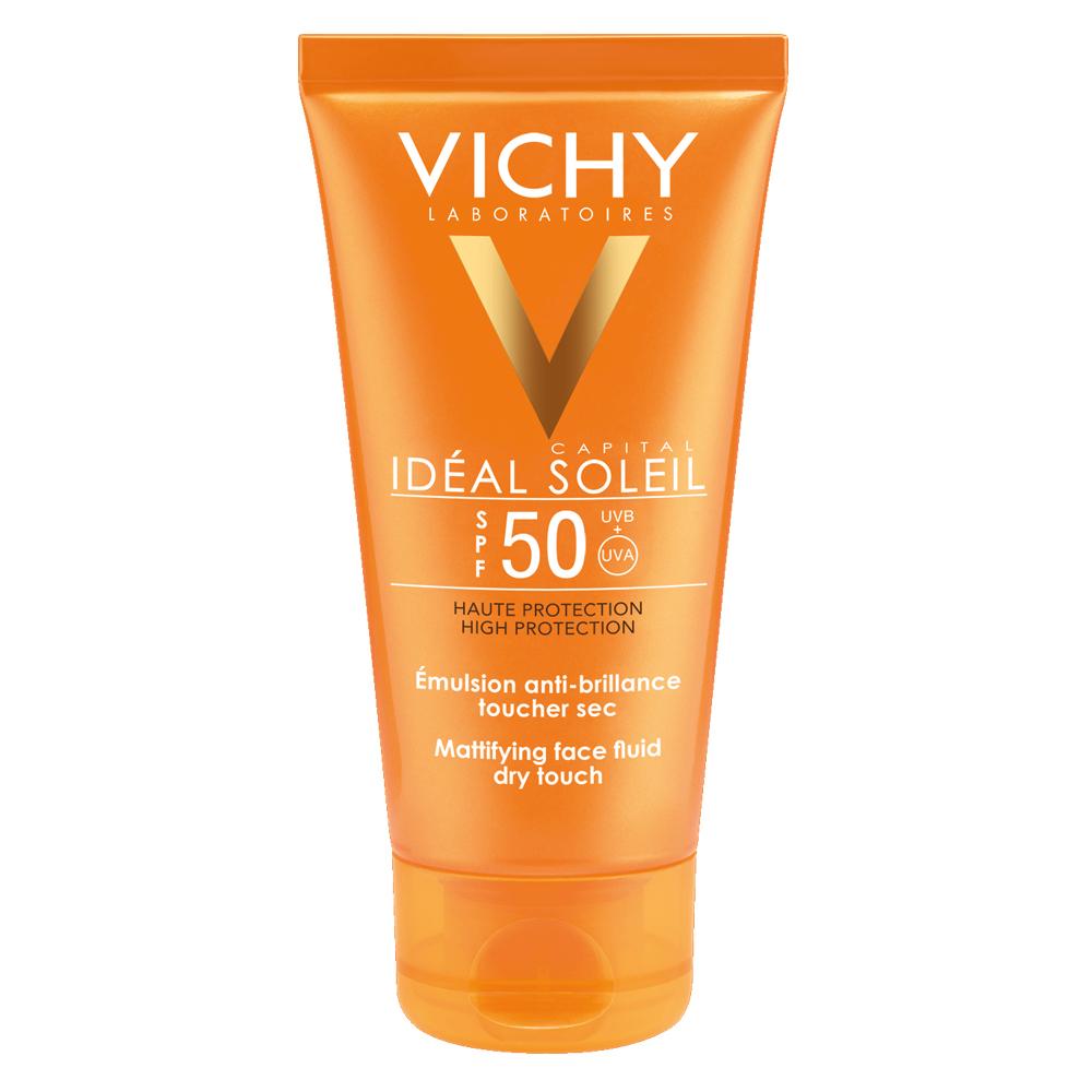Emulsie matifiantă pentru faţă Dry touch SPF 50 Ideal Soleil, 50 ml, Vichy