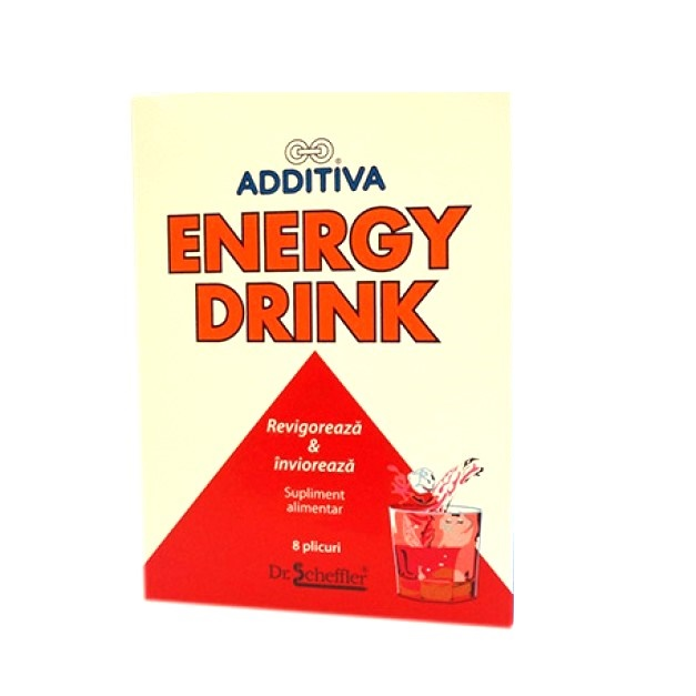 Energy Drink Additiva, 8 plicuri, Dr. Scheffler