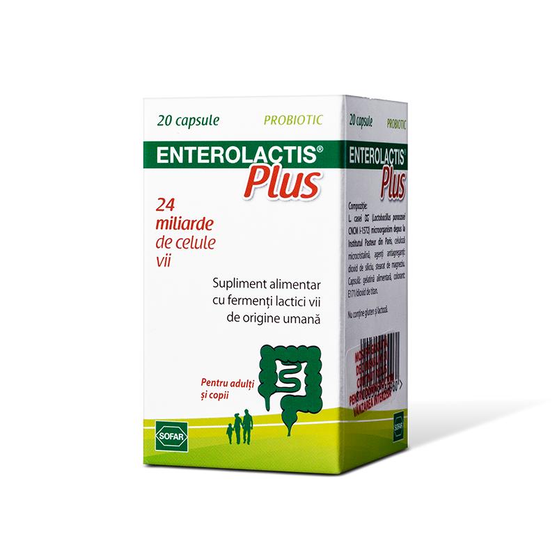 Enterolactis Plus, 20 capsule, Sofar