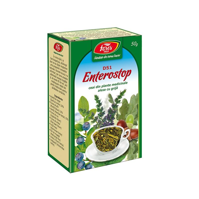 Ceai Enterostop, D51, 50 g, Fares