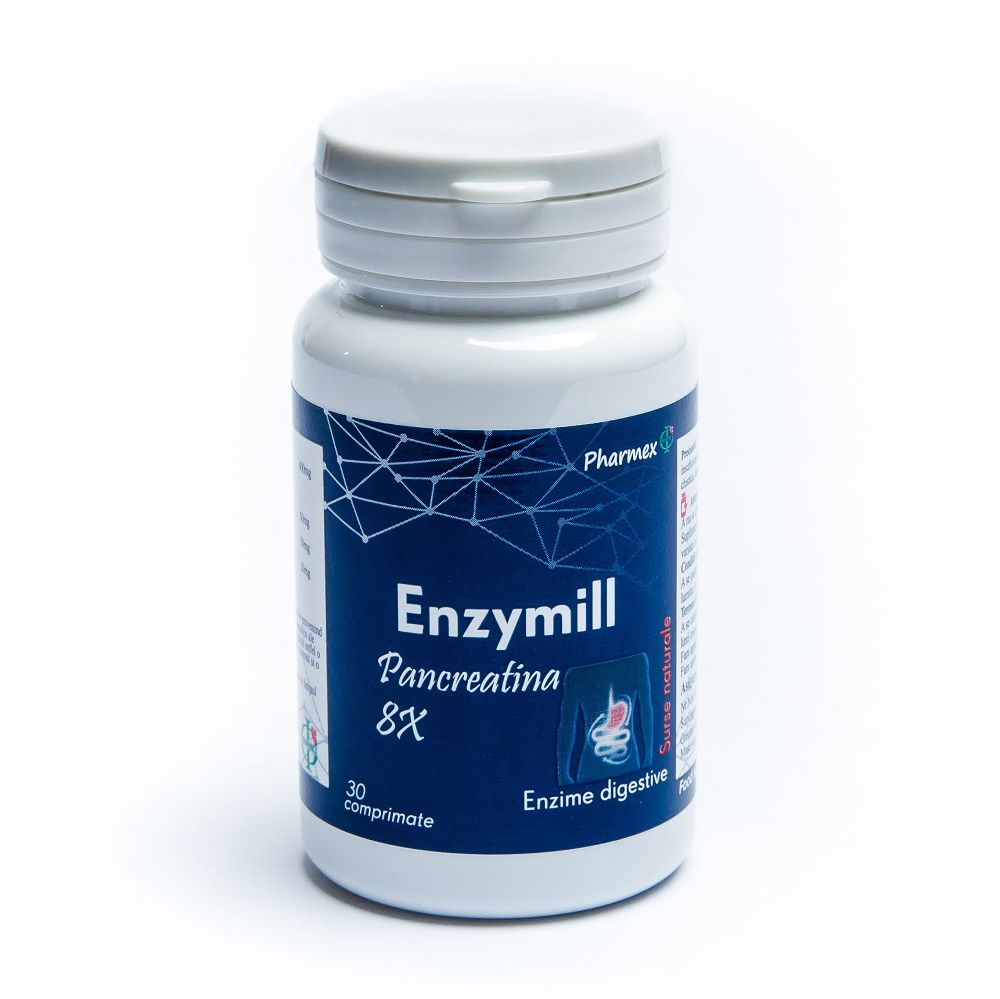 Enzymill Pancreatin, 30 comprimate, Pharmex