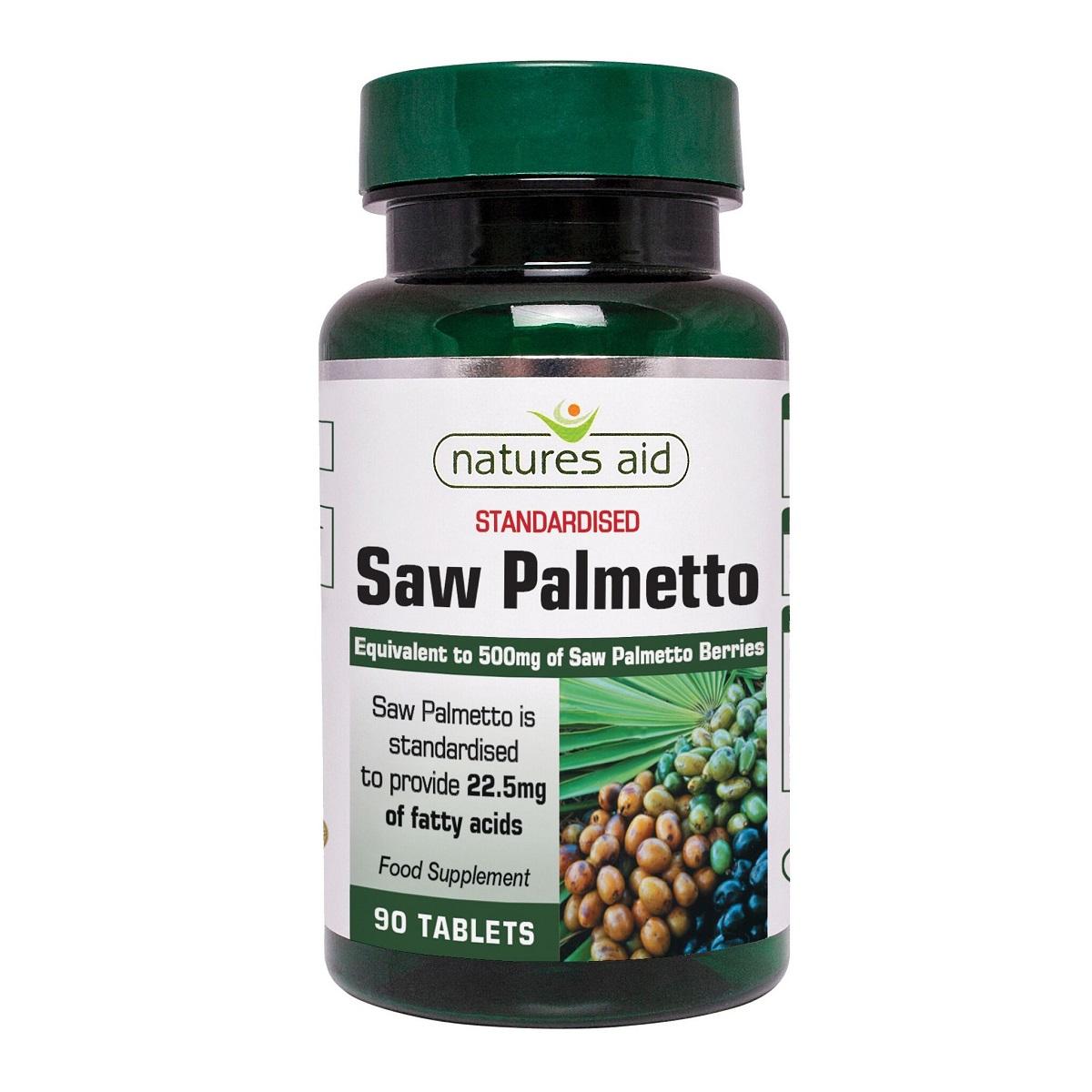 Saw Palmetto, 90 comprimate, Natures Aid