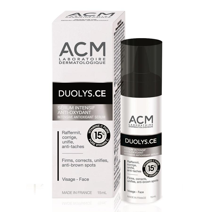 Ser intensiv antioxidant cu vitamina C pură 15% Duolys CE, 15 ml, Acm