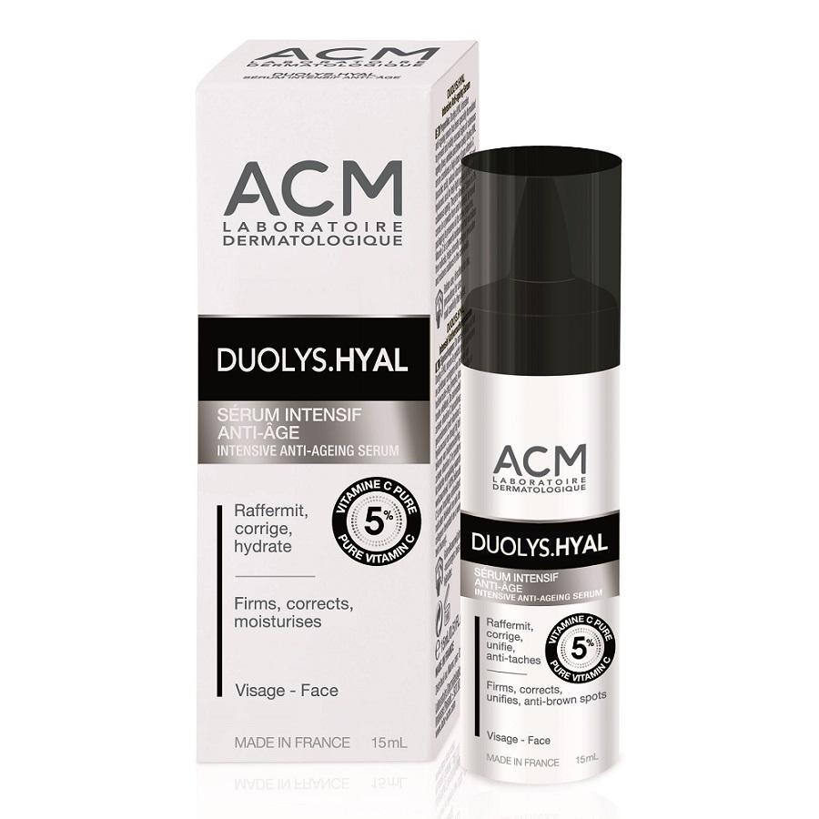Ser intensiv aniti-îmbătrânire cu vitamina C pură 5% Duolys Hyal, 15 ml, Acm