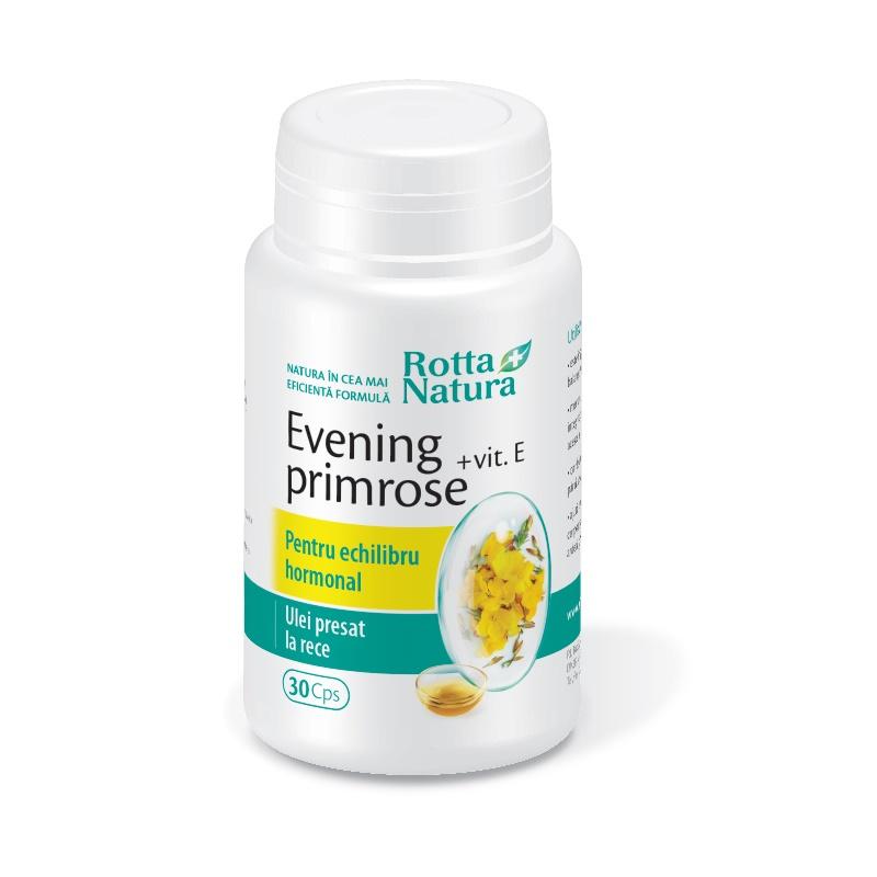 Evening Primrose + Vitamina E, 30 capsule, Rotta Natura