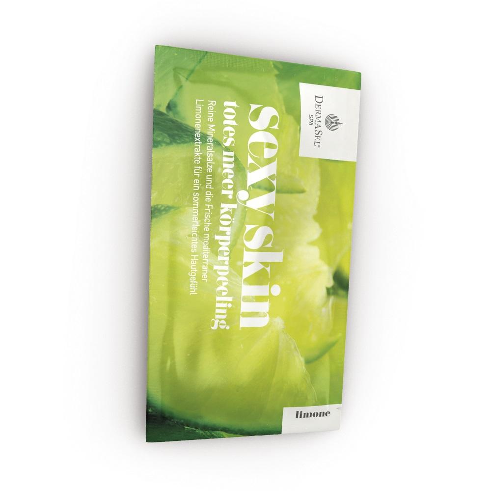 Exfoliant de corp cu extract de lamaie mediteraneana Sexy Skin SPA, 38 ml, DermaSel