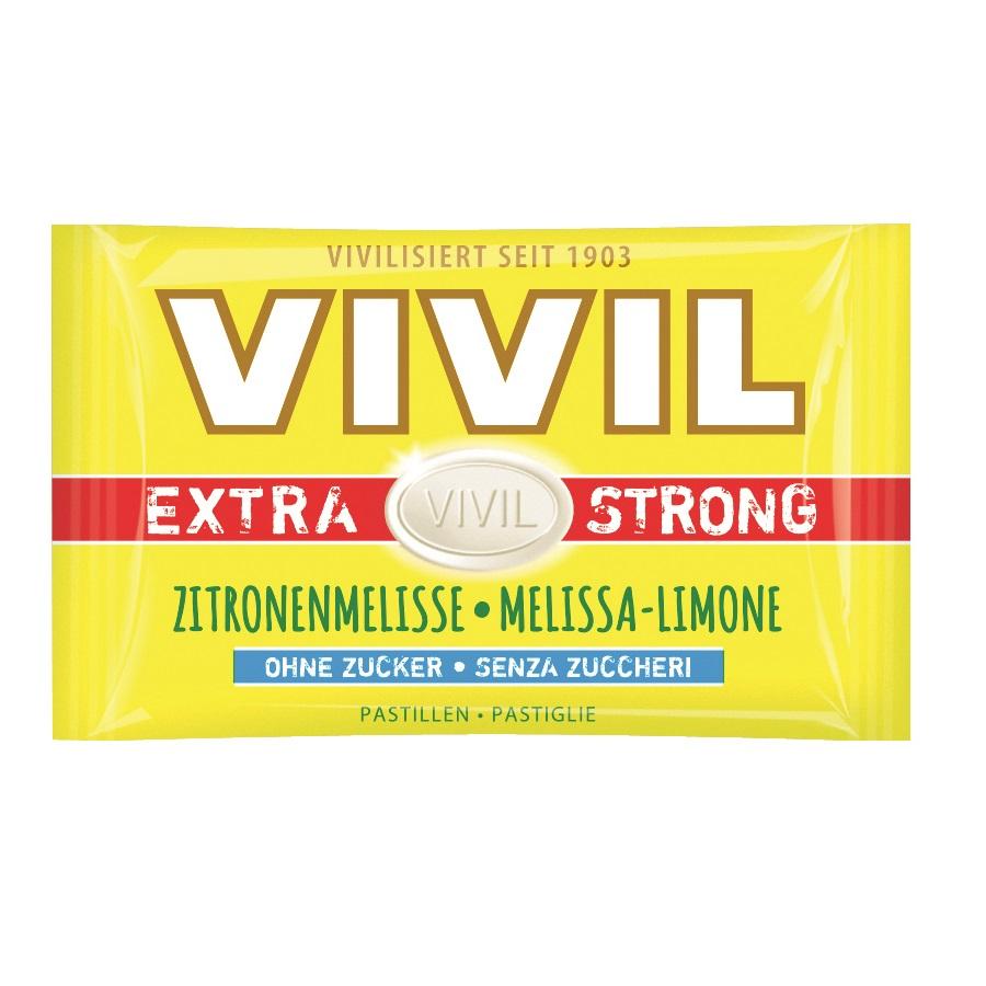 Bomboane cu lămâie fără zahăr Extra Strong, 25 g, Vivil