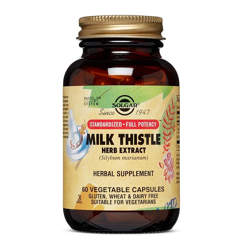 Extract din planta de Silimarină Milk Thistle, 60 capsule, Solgar