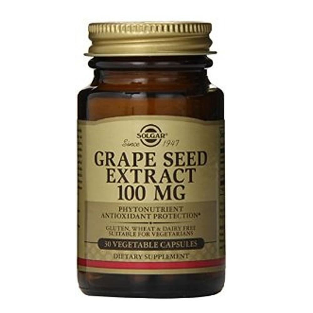 Extract din semințe de struguri 100 mg, 30 capsule, Solgar