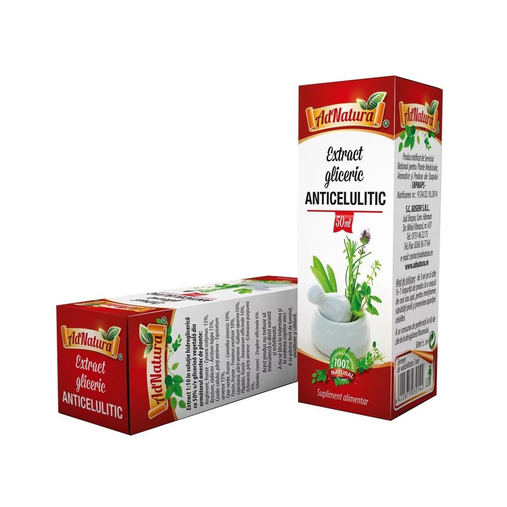 Extract gliceric anticelulitic, 50 ml, AdNatura