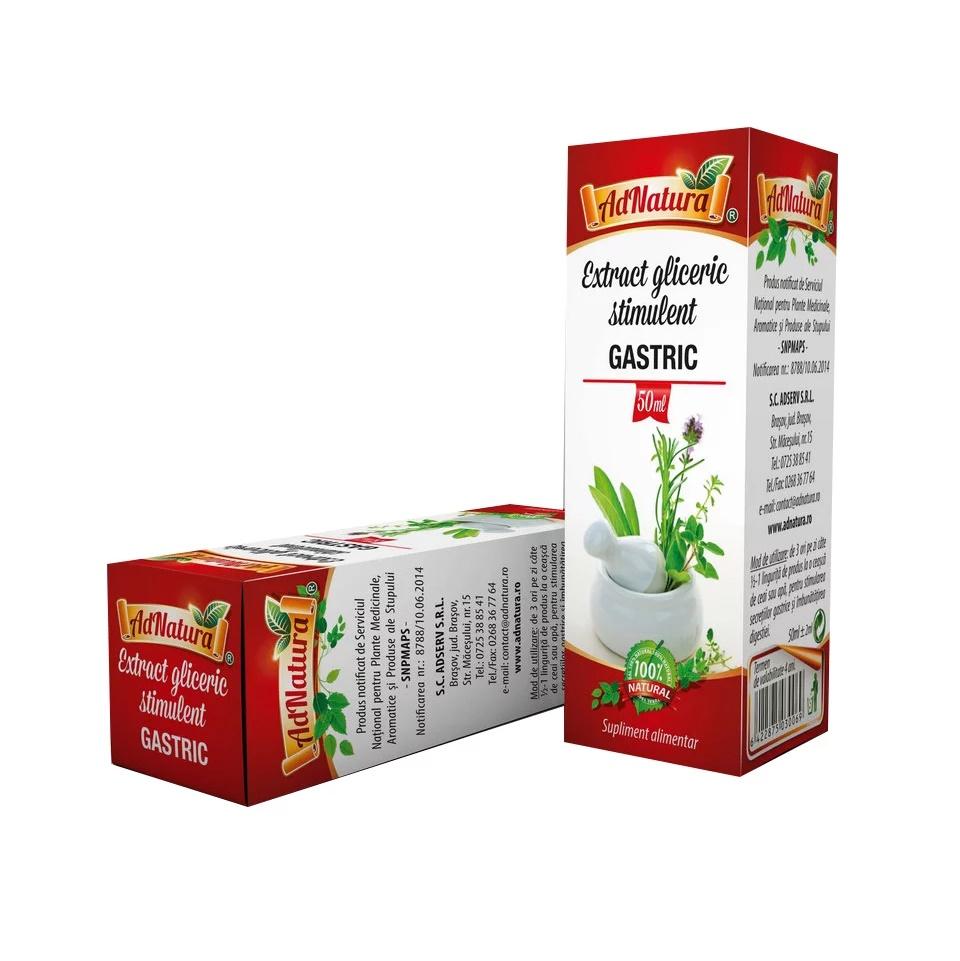 Extract gliceric stimulent gastric, 50 ml, AdNatura