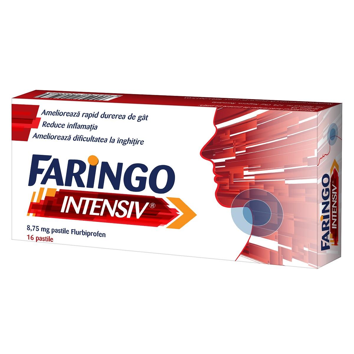 Faringo Intensiv 8,75 mg,16 pastile, Terapia