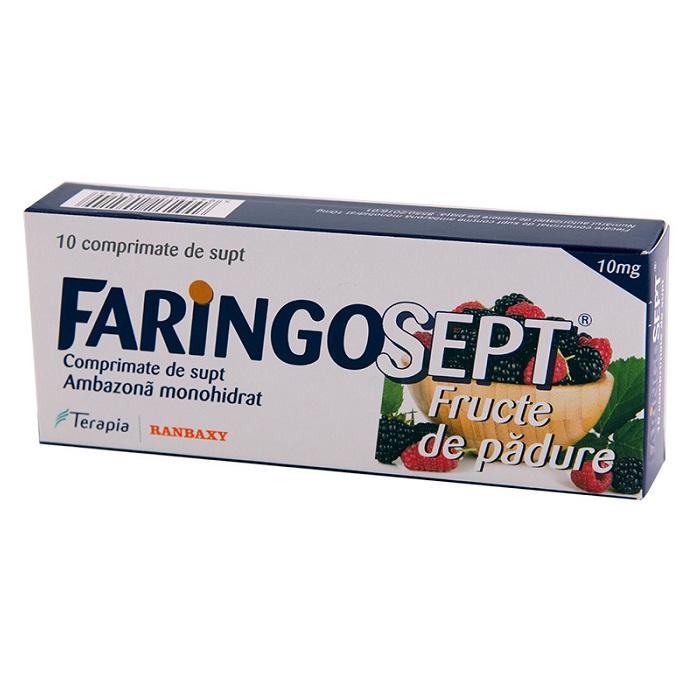 Faringosept fructe de padure, 10 comprimate, Terapia