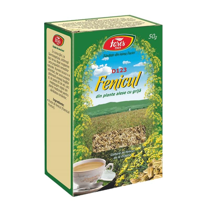 Ceai de fenicul, D123, 50 g, Fares