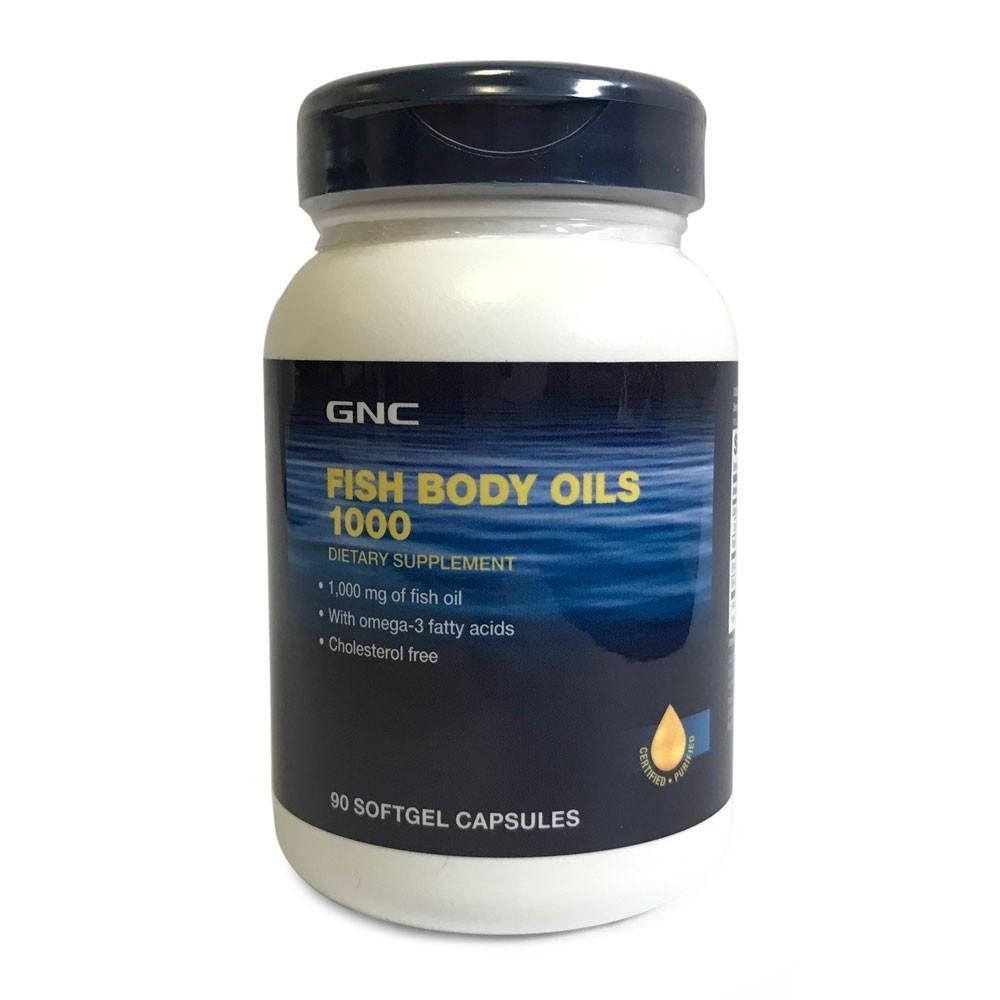 Fish Body Oils 1000 mg fara colesterol (133166), 90 capsule, GNC