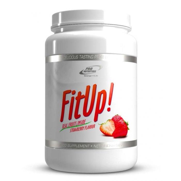 FitUp cu aromă de căpșuni, 900 g, Pro Nutrition