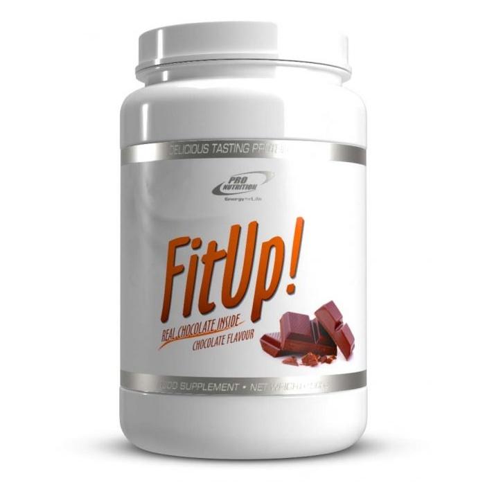 FitUp cu aroma de ciocolata, 900 g, Pro Nutrition
