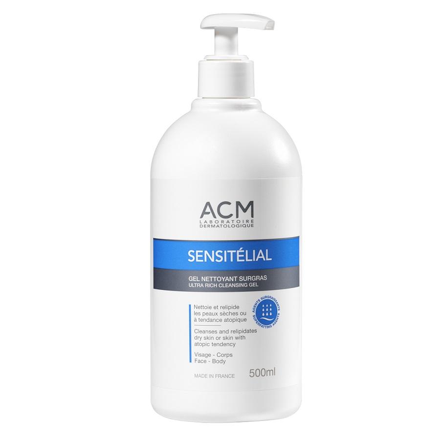 Gel de curățare relipidant Sensitelial, 500 ml, Acm