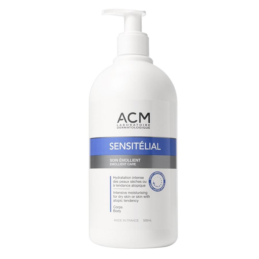 Cremă emolientă pentru hidratare intensivă Sensitelial, 500 ml, Acm