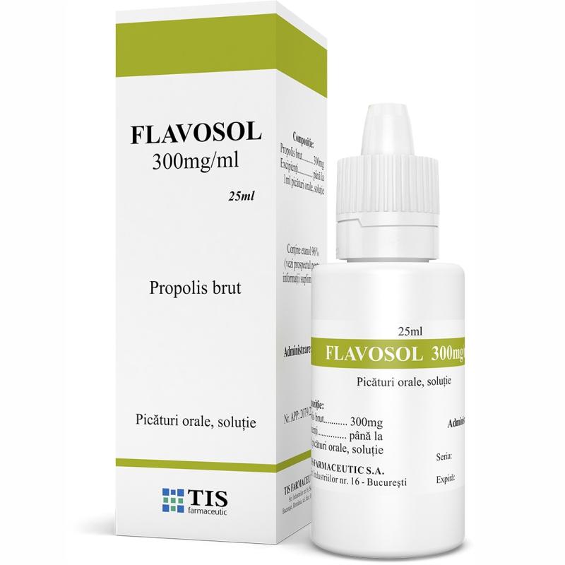Flavosol soluție orală 300mg, 25 ml, Tis Farmaceutic