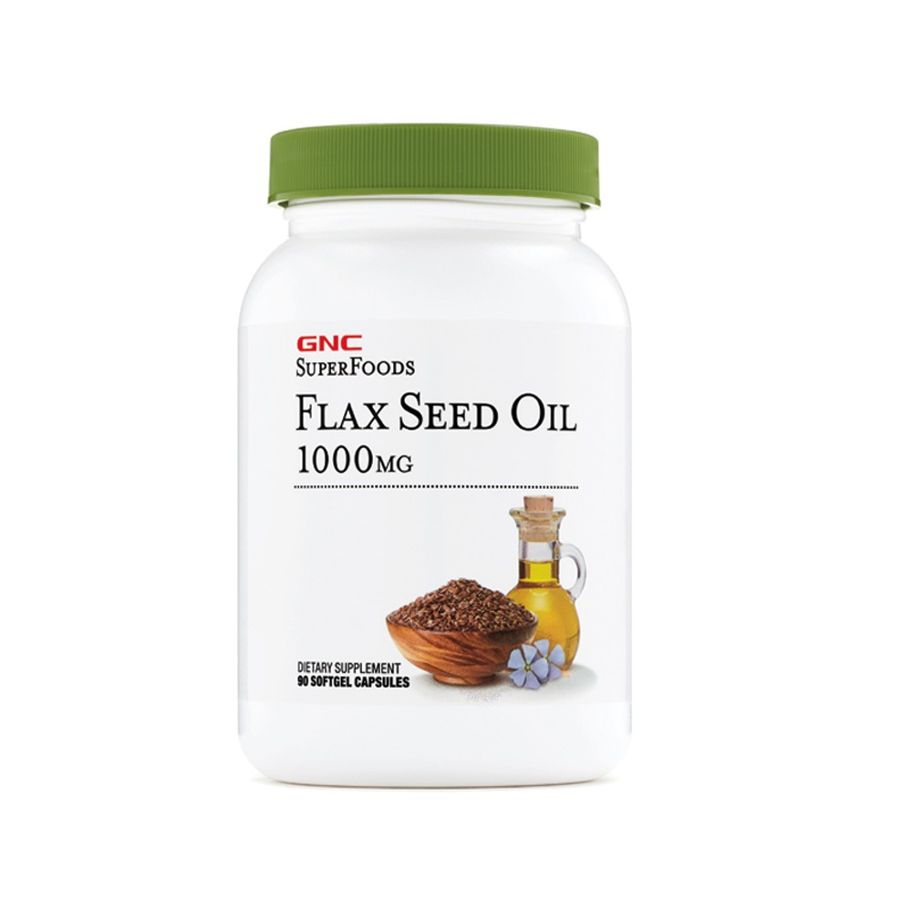 Flax Seed Oil SuperFoods 1000 mg (573466), 90 capsule, GNC