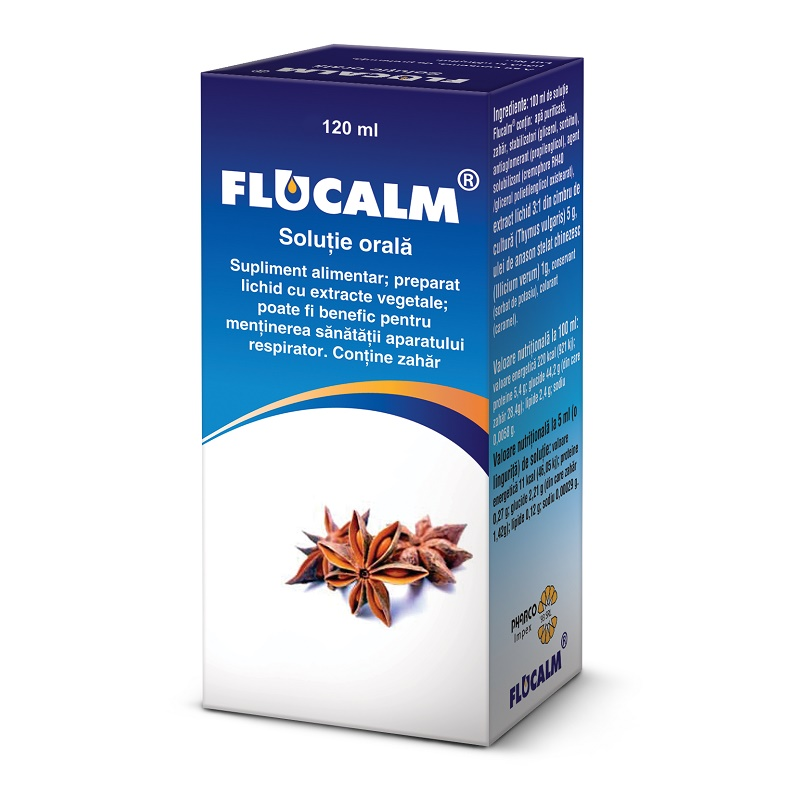 Flucalm sirop, 120 ml, Pharco