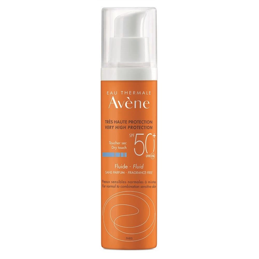 Fluid fără parfum pentru protecție solară SPF 50+, 50 ml, Avene