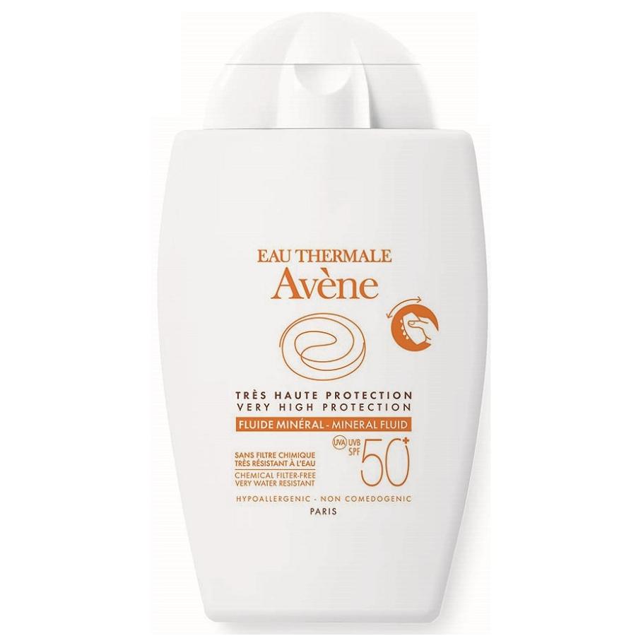 Fluid mineral pentru protectie solara SPF 50+, 40 ml, Avene