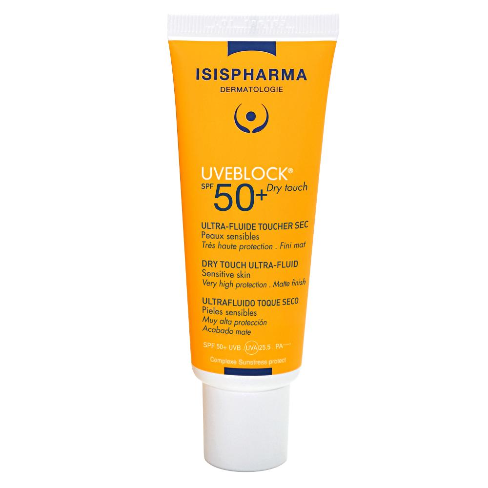 Fluid protector cu efect matifiant cu protectie solara SPF 50+ UVEBLOCK, 40 ml, Isis Pharma