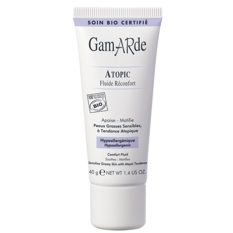 Fluid reconfortant pentru ten gras-mixt atopic, 40 ml, Gamarde