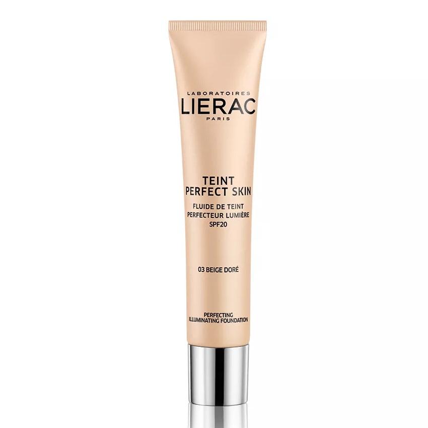 Fond de ten iluminator cu SPF 20, Teint Perfect Skin 03 Golden Beige, 30 ml, Lierac