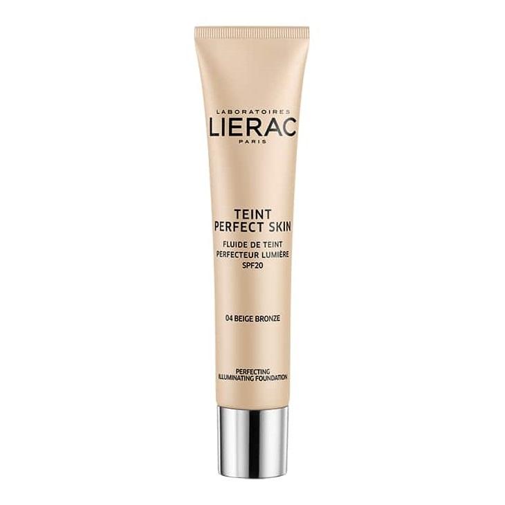 Fond de ten iluminator cu SPF 20, Teint Perfect Skin 04 Bronze Beige, 30 ml, Lierac