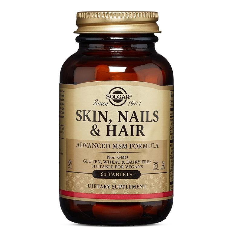 Formula pentru piele, unghii și par, 60 tablete, Solgar