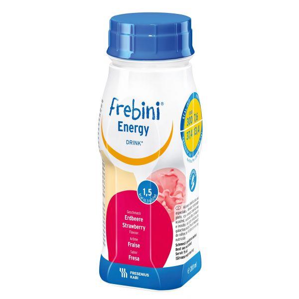 Frebini energy drink cu aroma de capsuni, 4 x 200 ml, Fresenius