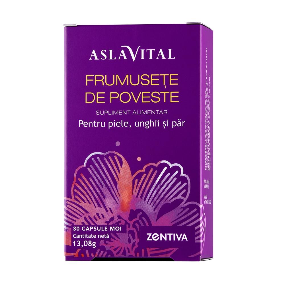 Frumusete de poveste, pentru piele, unghii și păr Aslavital, 30 capsule moi, Zentiva