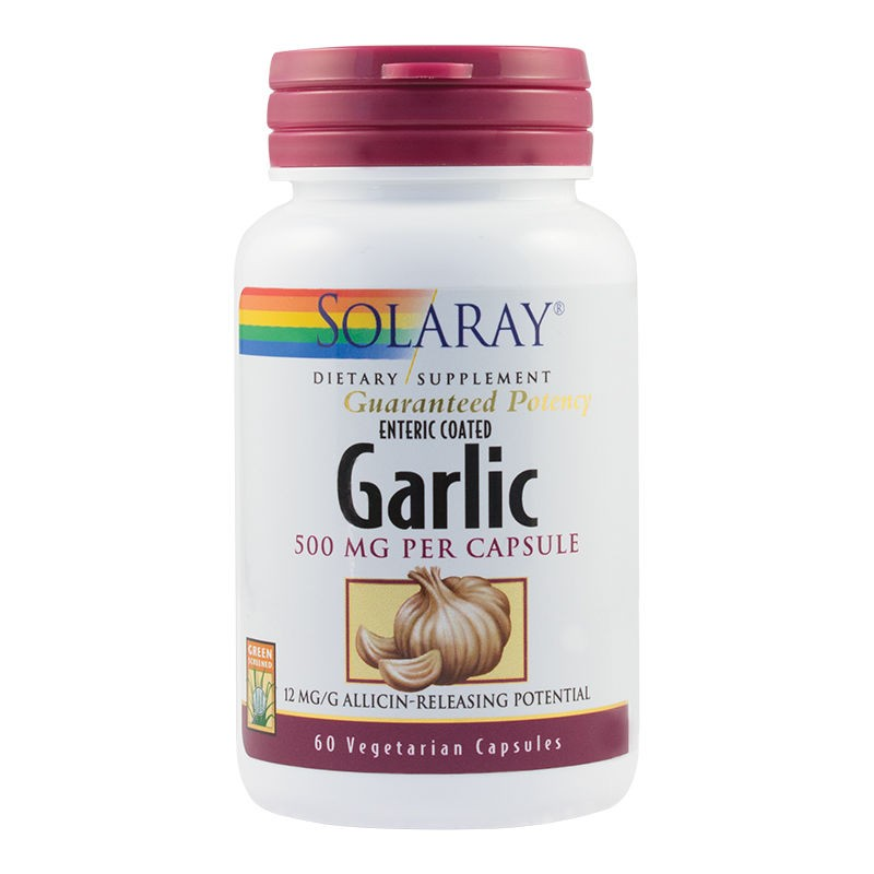 Garlic (Usturoi) 500mg Solaray, 60 capsule, Secom
