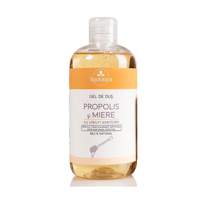 Gel de duș cu Propolis și Miere, 300 ml, Trio Verde