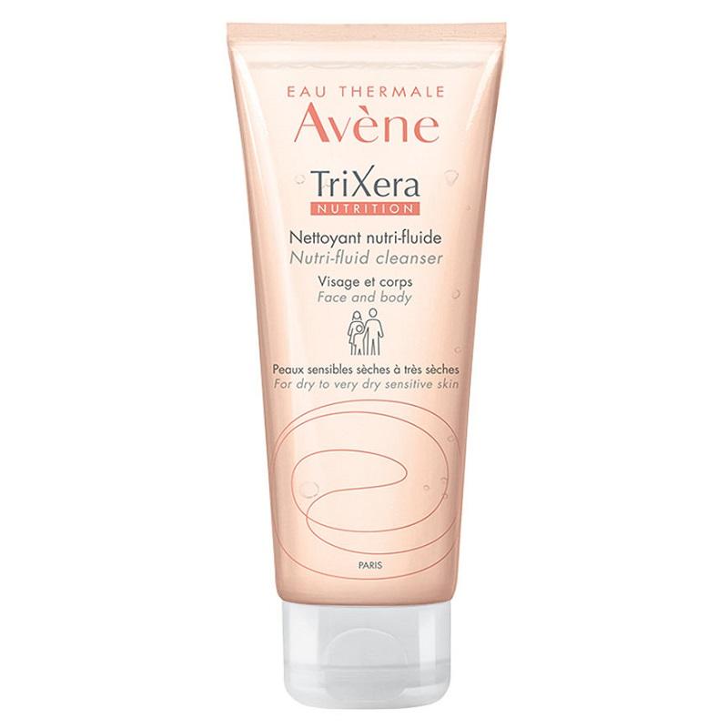 Gel de dus hidratant pentru piele sensibila si uscata Nutrition TriXera, 100 ml, Avene