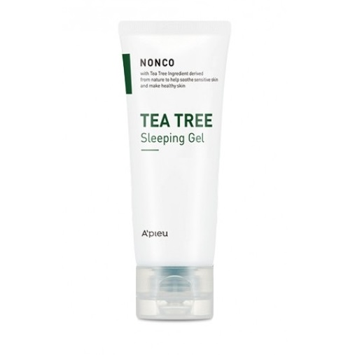 Gel facial pentru noapte cu Arbore de ceai, 80 ml, Apieu