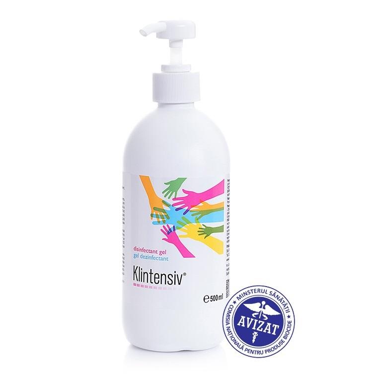 Gel hidroalcoolic pentru dezinfectarea mainilor Klintensiv, 500 ml, Pro Integrator