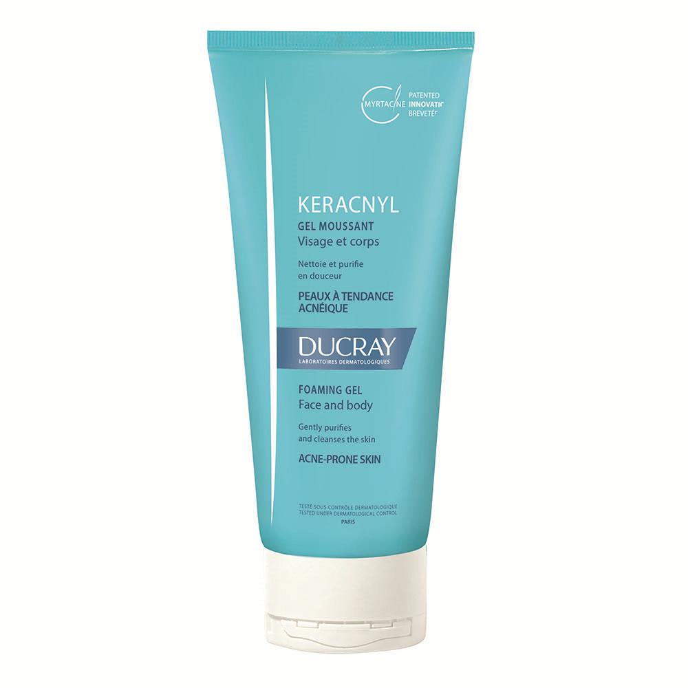 Gel spumant pentru pielea cu tendinta acneica Keracnyl, 200 ml, Ducray