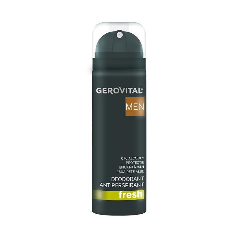 Deodorant antiperspirant Gerovital H3 Men Fresh, 150 ml, Farmec