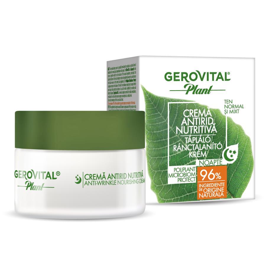 Crema antirid nutritiva Poliplant Microbiom Protect Gerovital Plant, 50 ml, Farmec
